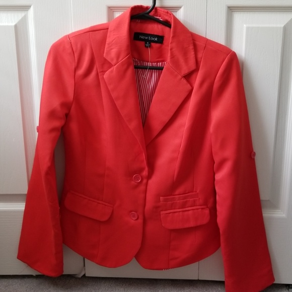 New Look Jackets & Blazers - Coral colored small petite blazer